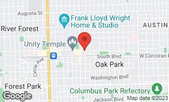 Map of 125 North Euclid Avenue #208 OAK PARK, IL 60301
