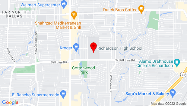 Google Map of 1250 Belt Line Road, Richardson, TX 75080
