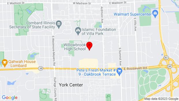 Google Map of 1250 South Ardmore Avenue, Villa Park, IL 60181