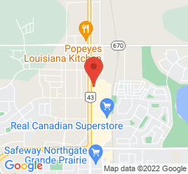Google Map of 12517+-+100+Street%2CGrande+Prairie%2CAlberta+T8V+4H2