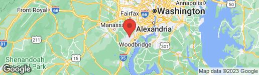 Map of 12517 HEDGES RUN DRIVE WOODBRIDGE, VA 22192