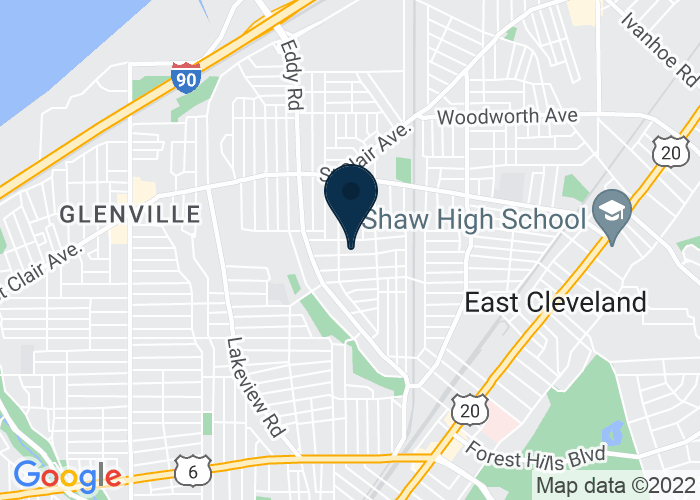 Map of 12523 Woodside Ave, Cleveland, OH 44108, United States