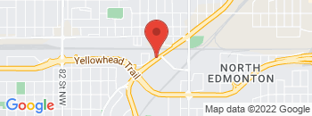 Google Map of 12540+Fort+Road+NW%2CEdmonton%2CAlberta+T5B+4H8