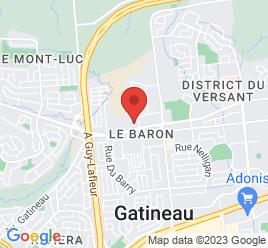 Google Map of 1255+Boulevard+La+Verendrye+Ouest%2CGatineau%2CQuebec+J8T+8K2