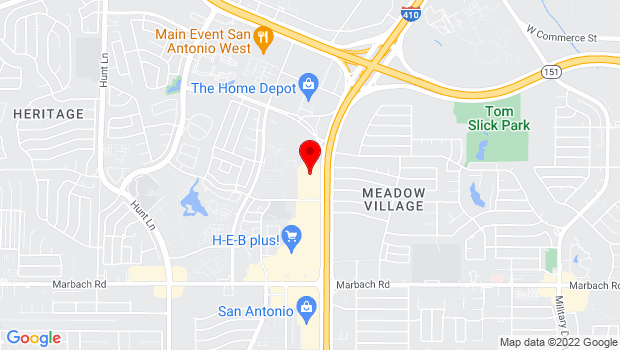 Google Map of 1255 SW Loop 410, San Antonio, TX 78227