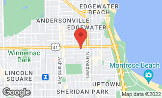 Map of 1258 West Winona Street 4A CHICAGO, IL 60640
