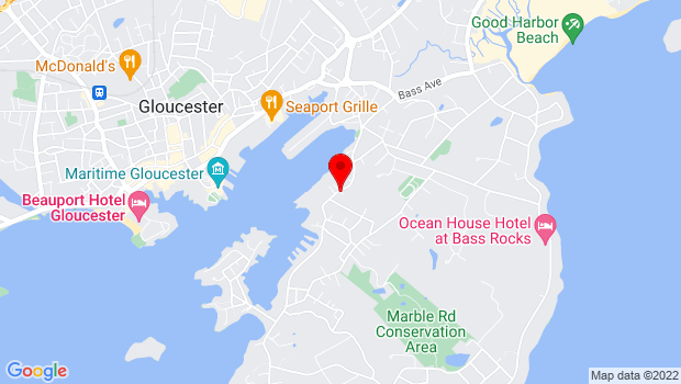Google Map of 126 East Main Street, Gloucester, MA