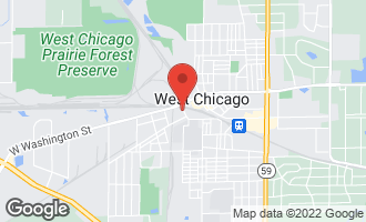 Map of 126 Wood Street WEST CHICAGO, IL 60185