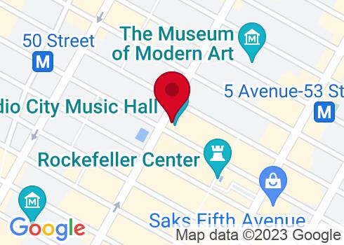Radio City Music Hall Google Maps Location