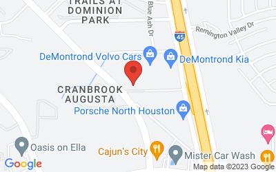 Map of DeMontrond Collision Houston