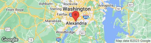 Map of 1262 OLDE TOWNE ROAD ALEXANDRIA, VA 22307