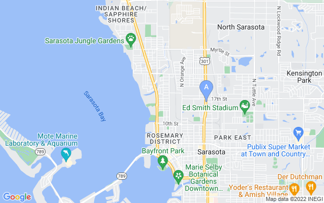 1268 16Th St Sarasota Florida 34236 locatior map