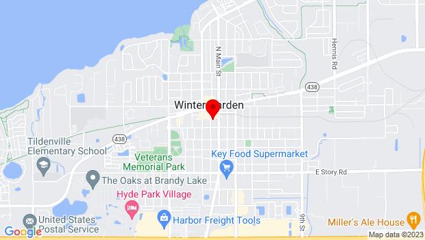 Google Map of 127 South Boyd St., Winter Garden, FL 34787