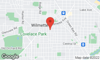 Map of 127 16th Street WILMETTE, IL 60091