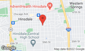 Map of 127 East 5th Street HINSDALE, IL 60521
