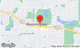 Map of 127 Lake Street BLOOMINGDALE, IL 60108