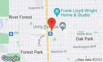 Map of 127 North Marion Street OAK PARK, IL 60301