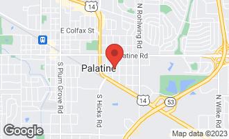 Map of 127 South Ashland Avenue PALATINE, IL 60074