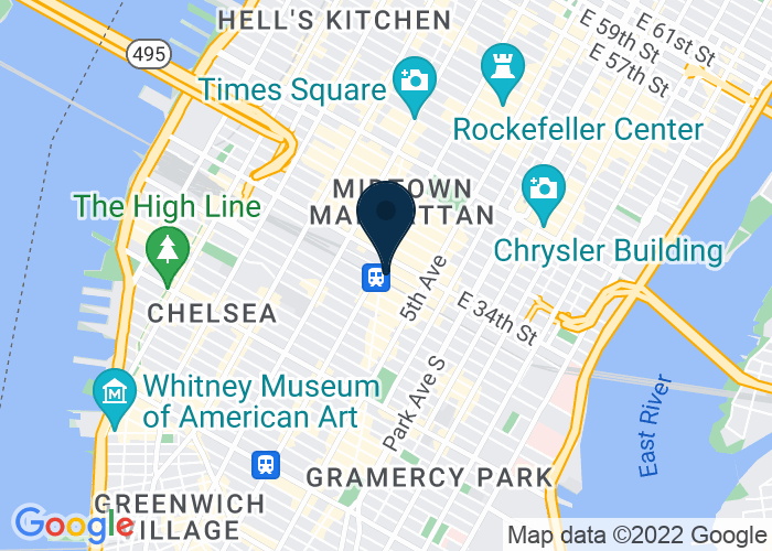Map of 1270 Broadway, Suite 703, New York, NY 10001, United States