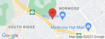 Google Map of 1270+Trans+Canada+Way+SE%2CMedicine+Hat%2CAlberta+T1A+7G8