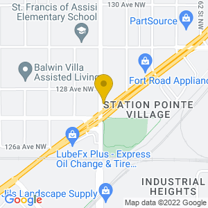 Map to Transit Tavern provided by Google