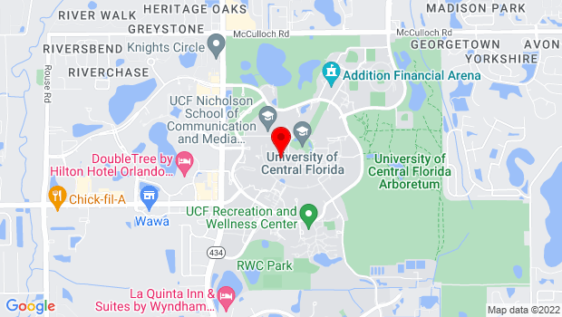 Google Map of 12784 Aquarius Agora Dr., Orlando, FL 32816