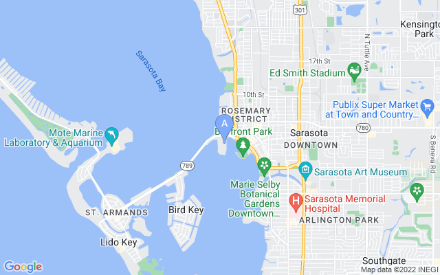 128 Golden Gate Pt #401B Sarasota Florida 34236 locatior map