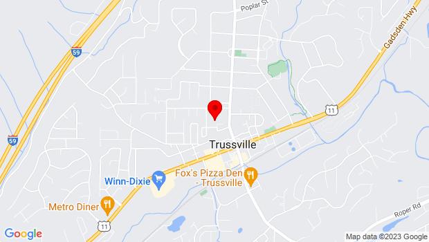 Google Map of 128 N Chalkville Rd, Trussville, AL