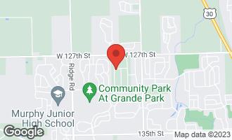 Map of 12801 South Elizabeth Drive PLAINFIELD, IL 60585