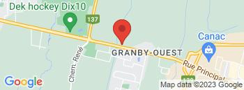 Google Map of 1289+Rue+Principale%2CGranby%2CQuebec+J2J+0M3