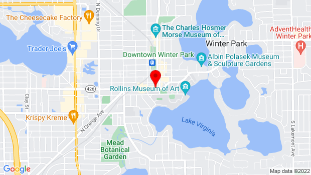 Google Map of 129 W Fairbanks Ave, Winter Park, FL 32789
