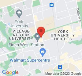 Google Map of 1290+Finch+Avenue+West+Unit+8%2CToronto%2COntario+M3J+3K3