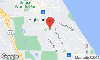 Map of 1292 Ridgewood Drive HIGHLAND PARK, IL 60035