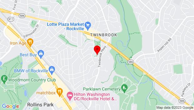 Google Map of 12920 Twinbrook Pkwy, Rockville, MD 20851