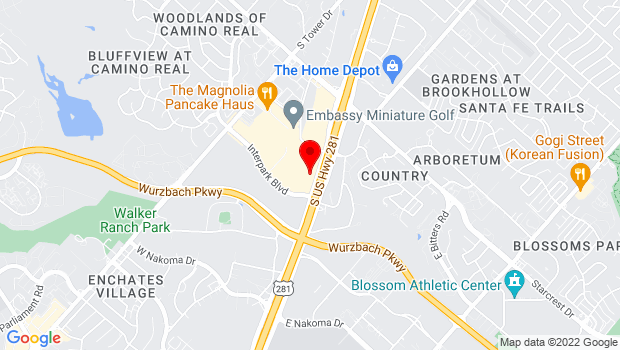 Google Map of 12955 San Pedro Avenue, San Antonio, TX 78216