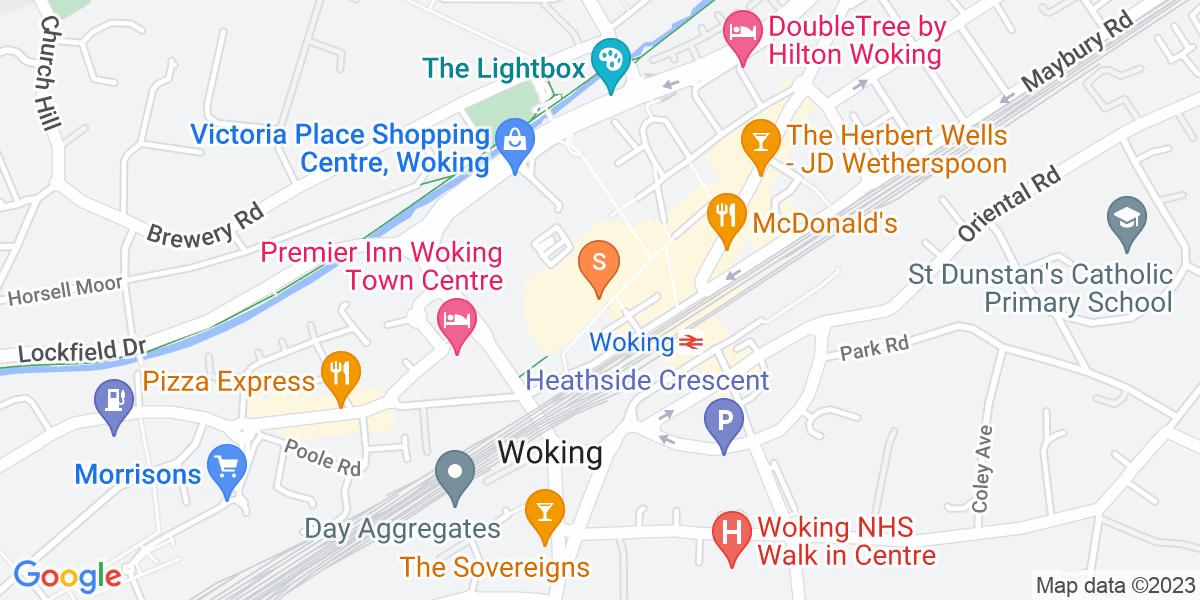 Google Map of 13 Wolsey Walk Woking GU21 6XU