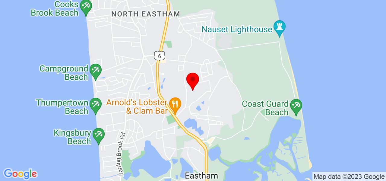 Google Map of13 Eldia Way Eastham MA