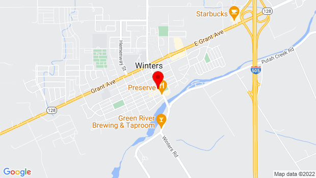 Google Map of 13 Main Street, Winters, CA 95694
