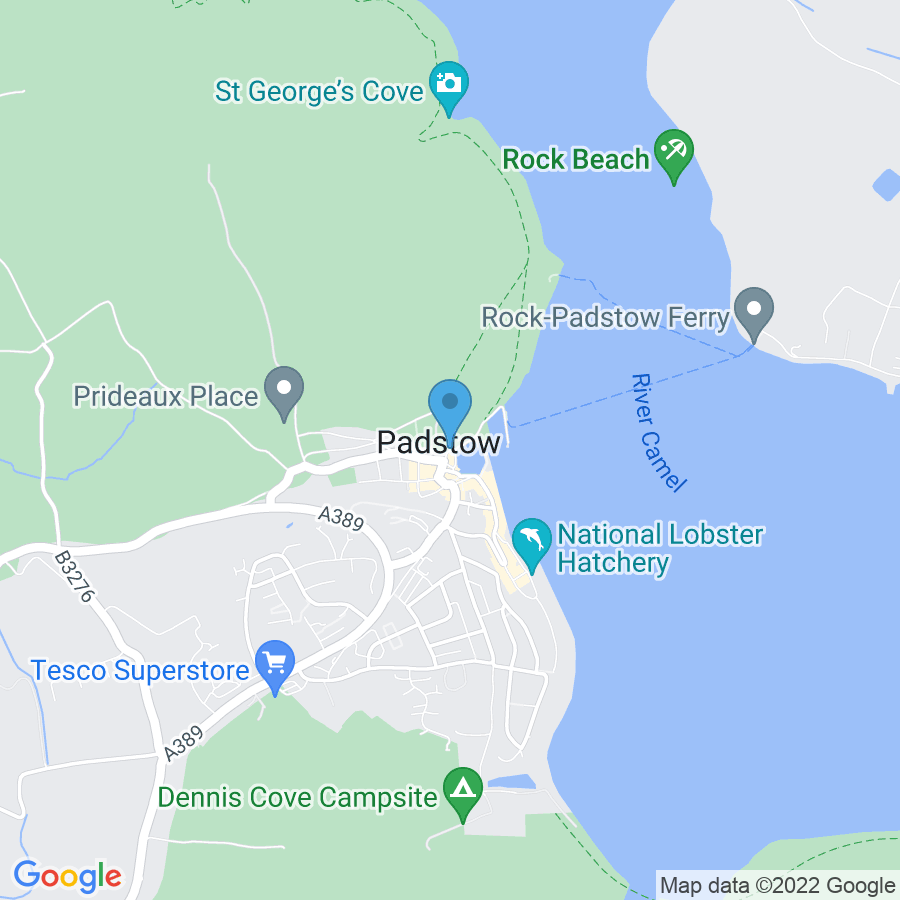 Google Map of 13+Mill+Square+Padstow+United+Kingdom+PL28+8AE