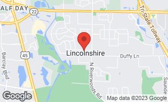 Map of 13 Cambridge Lane LINCOLNSHIRE, IL 60069