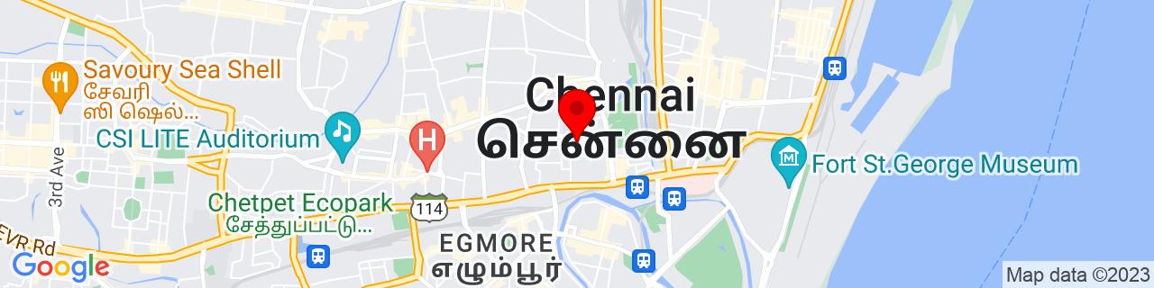 Google Map of 13.08472, 80.2675