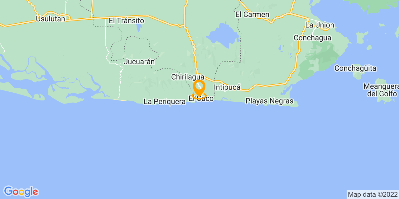 Google Map - Unnamed Road, El Cuco, El Salvador