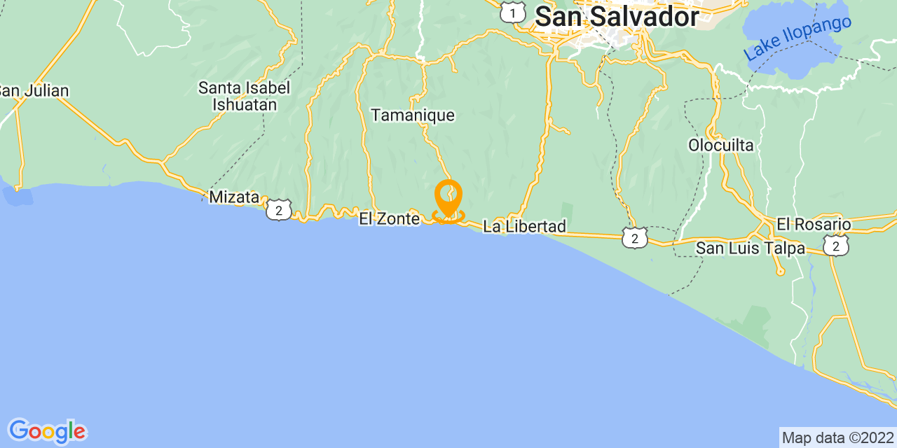 Google Map - CA-2, El Salvador