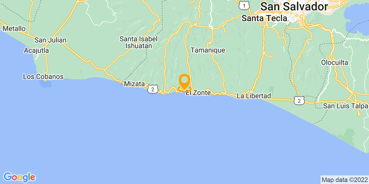 Google Map - CA 2E, El Salvador