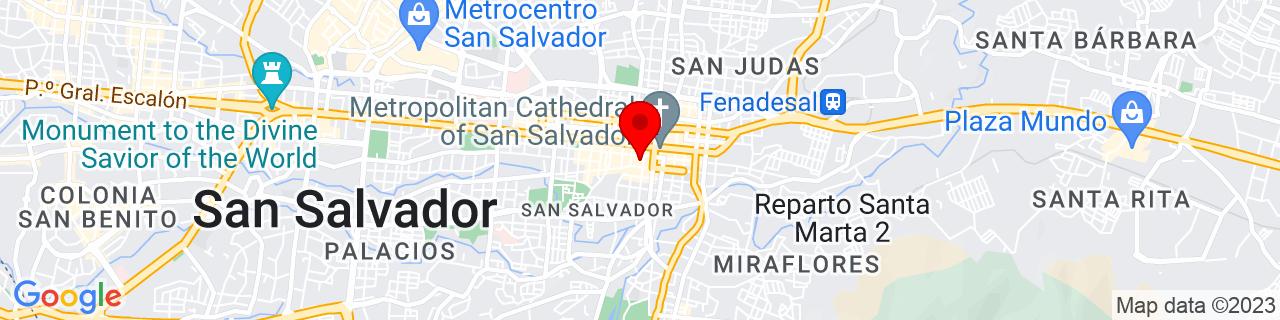 Google Map of 13.696972, -89.1928301