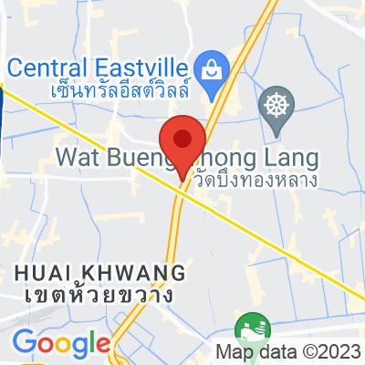 Map showing Bluetamp Cafe