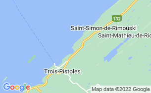 Map of Camping Plage Trois-Pistoles
