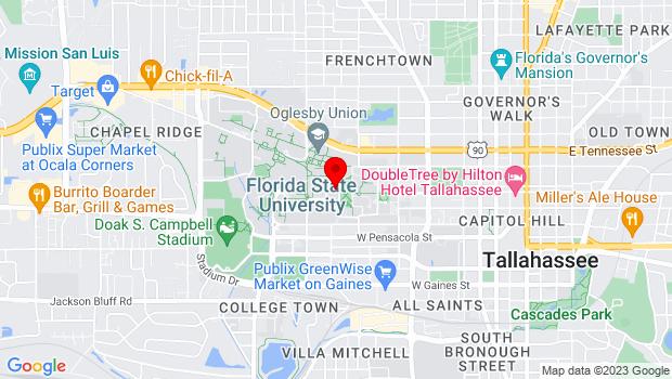 Google Map of 130 Collegiate Loop, Tallahassee, FL 32304