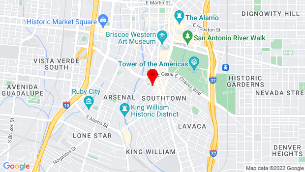 Google Map of 130 King William Street, San Antonio, TX 78204