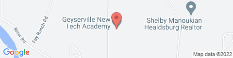 Google Map of 1300 Moody Ln, Geyserville, CA 95441